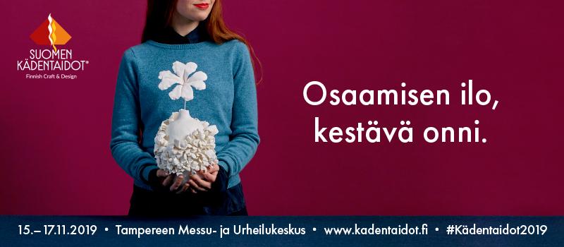 Suomen Kädentaidot -messujen banneri.